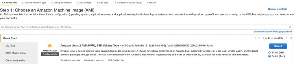Launching a new EC2 instance